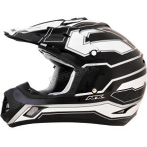 AFX Black/White FX-17 Works Helmet - 0110-4609