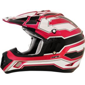 AFX Black/White/Fuchsia FX-17 Works Helmet - 0110-4615
