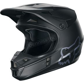 Fox Matte Black V1 Helmet - 15310-255-M