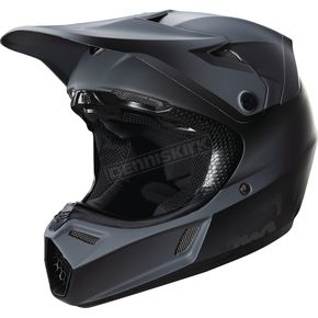 Fox Youth Matte Black V3 Helmet - 15824-255-L