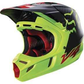 Fox Yellow Libra V4 Helmet - 15177-005-S