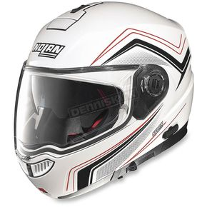 Nolan White/Red/Black N104E Como Helmet - N1R5273440482