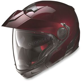 Nolan Metallic Wine Cherry N40 Full N-Com Helmet - N4J5270330061