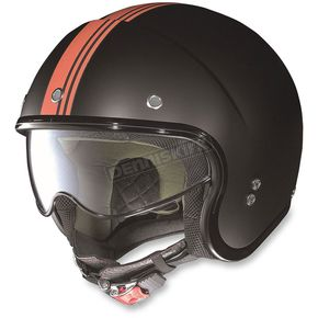 Nolan Flat Black/Orange N21 Banner Helmet - N2N5273540252