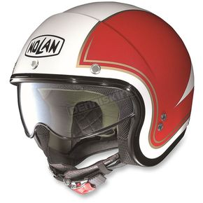 Nolan Metallic White/Red N21 Tricolor Helmet  - N2N5273450316