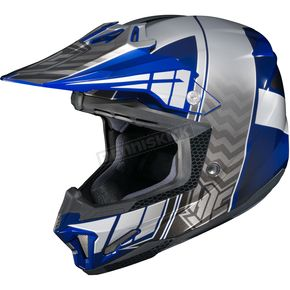 HJC Blue/Gray/Silver CL-X7 Cross-Up MC-2 Helmet - 57-1429