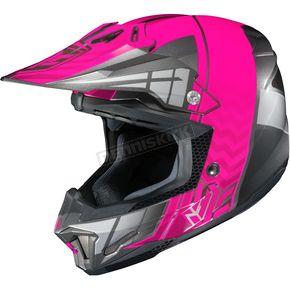 HJC Neon Pink/Gray/Silver CL-X7 MC-8 Cross-Up Helmet - 57-1482