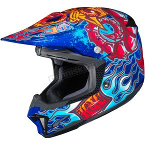 HJC Red/Blue/Yellow CL-X7 Zilla MC-2 Helmet - 57-1529T
