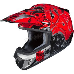 HJC Red/Black/Gray CS-MX 2 Graffed MC-1 Helmet - 55-5616