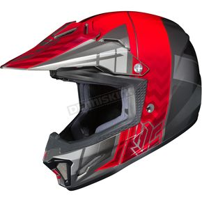 HJC Youth Red/Gray/Silver CL-XY 2 Cross-Up MC-1 Helmet - 57-4912