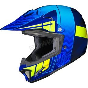 HJC Youth Blue/Neon Green CL-XY 2 Cross-Up MC-2H Helmet - 57-4934