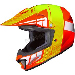 HJC Youth Orange/Neon Green CL-XY 2 Cross-Up MC-6 Helmet - 57-4966