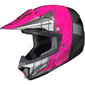HJC Youth Neon Pink/Gray/Silver CL-XY 2 Cross-Up MC-8 Helmet - 57-4986