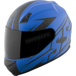Speed and Strength Mattte Blue Hammer Down SS700 Helmet - 87-1417
