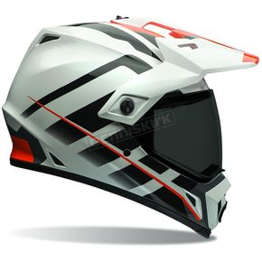 Bell Helmets Orange/White Raid MX-9 Adventure Helmet - 7069355