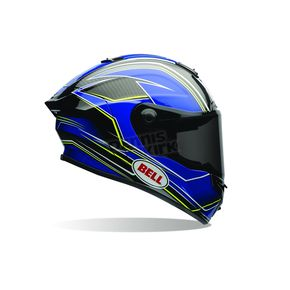 Bell Helmets Blue/Yellow Triton Race Star Helmet - 7069660