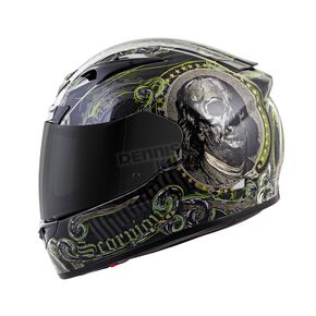 Scorpion Black EXO-R710 Illuminati Helmet - 71-4107