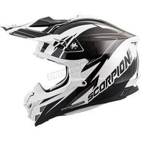 Scorpion White/Black VX-35 Krush Helmet - 35-1826