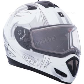 CKX Matte White Tranz RSV Blast Modular Snow Helmet w/Electric Shield - 104234