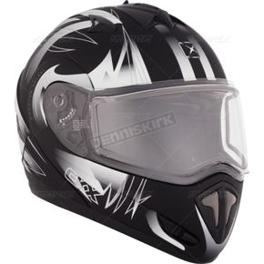 CKX Matte Black/White Tranz RSV Blast Modular Snow Helmet w/Electric Shield - 104676