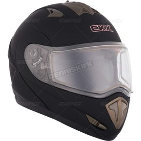 CKX Matte Black Tranz RSV Modular Snow Helmet w/Electric Shield - 105167