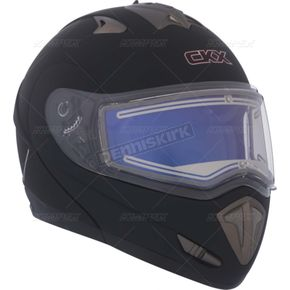 CKX Matte Black Trans-E Modular Snow Helmet w/Electric Shield - 105437