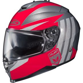 HJC Red/Gray IS-17 MC-1 Grapple Helmet - 58-5112
