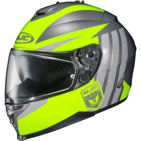 HJC Hi-Viz Yellow/Gray IS-17 MC-3H Grapple Helmet - 58-5136