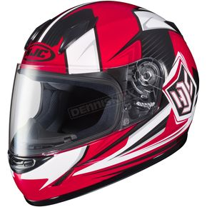 HJC Youth Red/White/Black CL-Y  MC-1 Striker Helmet - 55-2016