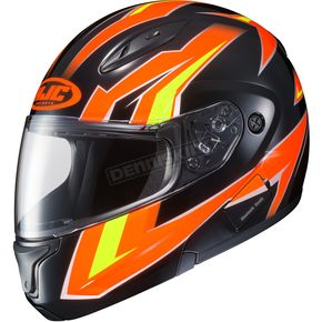 HJC Neon Orange/Black/Yellow CL-Max 2 MC-6 Ridge Modular Helmet - 59-4562