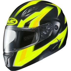 HJC Hi-Viz Green/Yellow/Black CL-Max 2 MC-3H Ridge Modular Helmet - 978-936