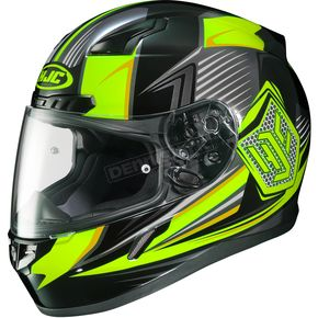 HJC Hi-Viz Yellow/Black CL-17 MC-3H Striker Helmet - 834-931