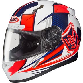 HJC White/Red/Blue CL-17 MC-1H Striker Helmet - 57-9328