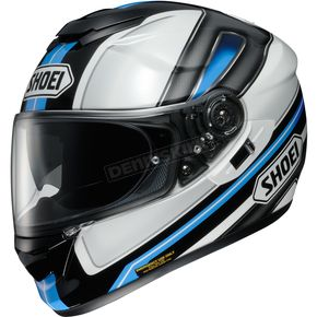 Shoei Helmets Black/White/Blue GT-Air  Dauntless TC-10 Helmet - 0118-1810-06