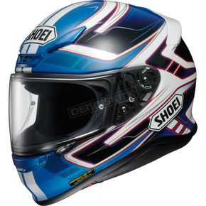 Shoei Helmets Blue/White/Black RF-1200 Valkyrie TC-2 Helmet - 0109-2302-08