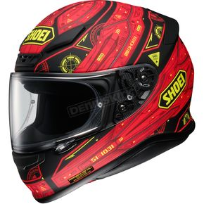 Shoei Helmets Red/Black/Yellow RF-1200 Vessel TC-1 Helmet - 0109-2401-08