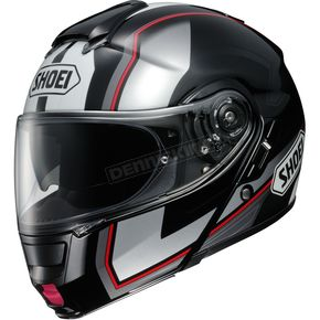 Shoei Helmets Black/Silver/Red Neotec Imminent TC-5 Modular Helmet - 0117-1205-05