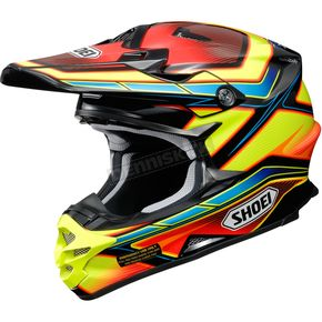 Shoei Helmets Red/Yellow/Blue VFX-W Capacitor TC-3 Helmet - 0145-9003-06