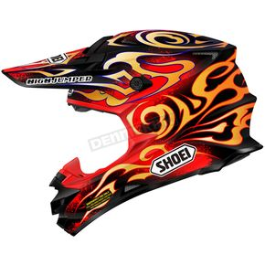 Shoei Helmets Red/Black/Orange VFX-W Taka TC-1 Helmet - 0145-9101-03