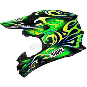 Shoei Helmets Green/Yellow/Black VFX-W Taka TC-4 Helmet - 0145-9104-07