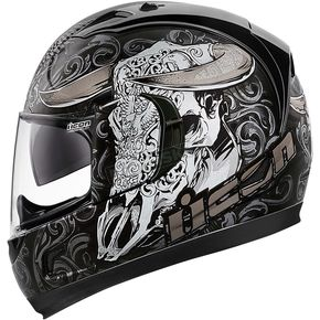 Icon Black Honcho Alliance GT Helmet - 0101-8816