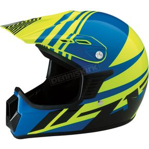 Z1R Youth Gloss Blue/Yellow Roost SE Helmet - 0111-1034