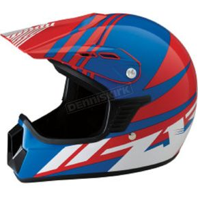Z1R Youth Gloss Blue/Red/White Roost SE Helmet - 0111-1045