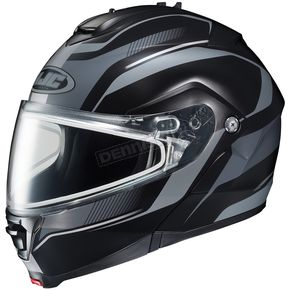 HJC Black/Matte Silver IS-Max 2 Style Snowmobile Helmet w/Dual Lens Shield - 987-957