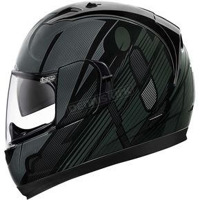 Icon Black Primary Alliance GT Helmet - 0101-8982