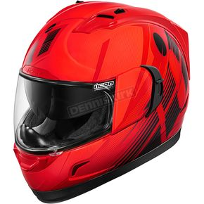 Icon Red Primary Alliance GT Helmet - 0101-9009