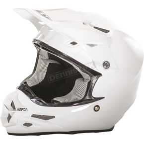 Fly Racing White F2 Carbon Helmet - 73-4009M
