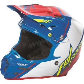 Fly Racing Blue/White/Red F2 Carbon MIPS Canard Replica Helmet - 73-4096X
