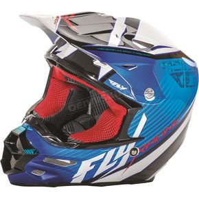 Fly Racing Blue/Black/White F2 Carbon Fastback Helmet - 73-41132X