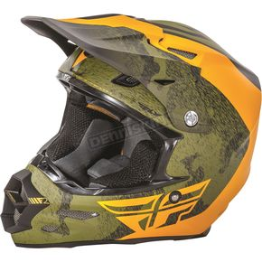 Fly Racing Black/Orange/Camo F2 Carbon Pure Helmet - 73-41262X